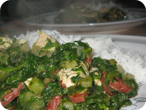 Rice with Spinach and Chorizo