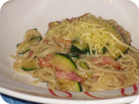 Spaghetti Courgette Carbonara