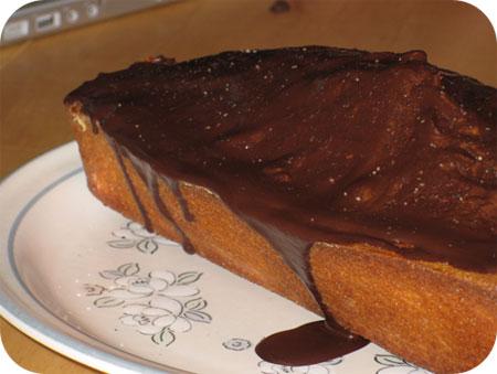 Cake met Chocoladeglazuur
