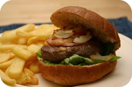 Hamburgers met Vlaamse Frieten