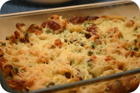 Pasta Ovenschotel met Rookworst