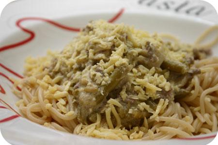 Spaghetti met Sperziebonen en Mascarpone