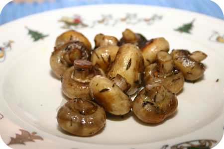 Gebakken Champignons met Knoflook en Tijm