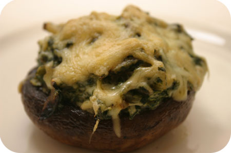 Portobello Mushrooms with Spinach and Cream Cheese