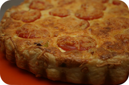 Savory Pie with Leeks, Tomato and Prosciutto