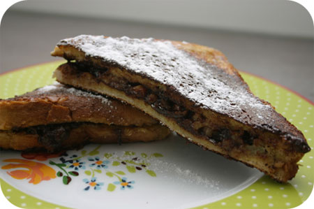 French Toast with Banana and Chocolate