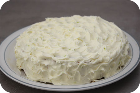 Carrot Cake with Creamy Lime Frosting