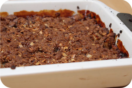 Warme Appels met Speculaascrumble