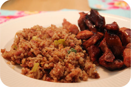 Nasi Goreng Kornet with Char Siu