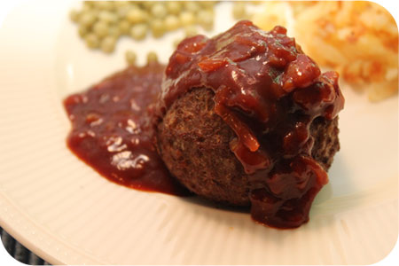 Meatballs with Sauce de 'Liege'