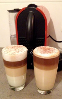 Nespresso U in actie Latte Macchiato