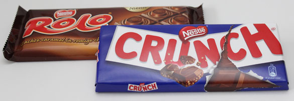 Crunch & Rolo Chocolade Tabletten