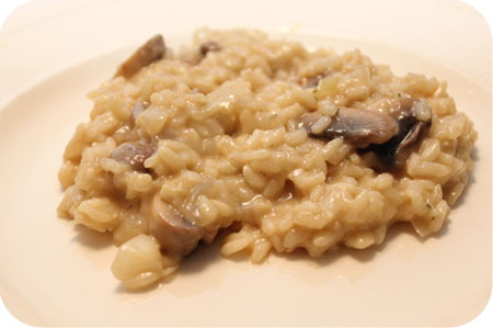 Risotto met Champignons en Kaas
