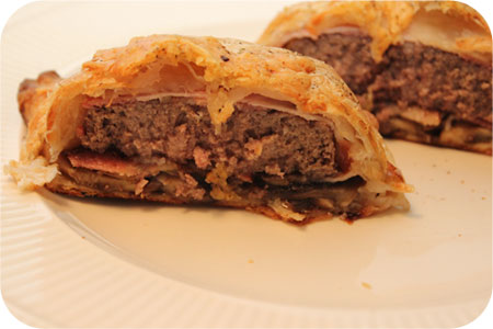 Tartare with Mushrooms wrapped in Puff Pastry