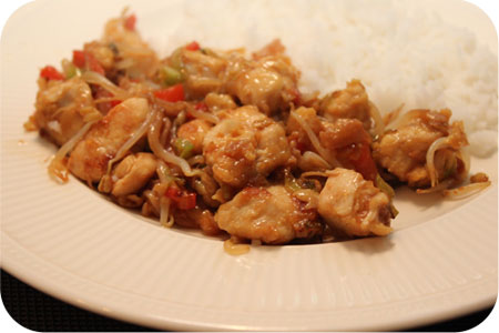 Rice with Chicken Shangai