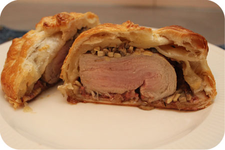 Puff Pastry with Tenderloin, Mushrooms and Pt