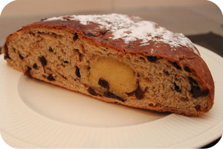 Currant and Raisin Bread with Almond Paste