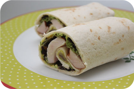 For lunch: Wraps with Smoked Chicken and Chicken Curry Salad