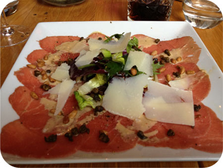 carpaccio Restaurant Opium in Utrecht