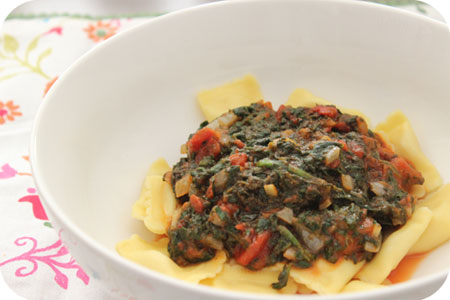 Vega: Ravioli with Spinach
