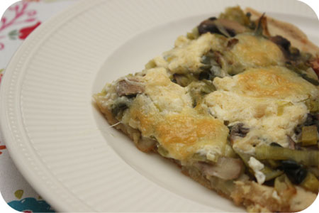 Vegetable Pie with Leeks and Mushrooms