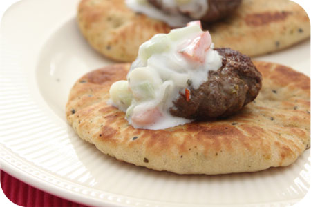 Naan Bread with Thai Burgers