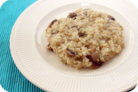 Risotto with Leek and Mushrooms