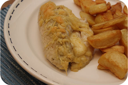 Chicken filled with Cream Cheese and Mustard