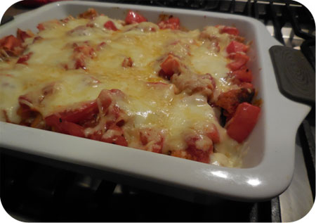Cutles Gratin with Tomato Sauce